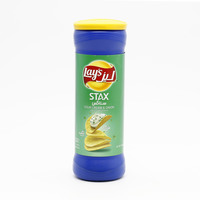 Lays Stax Potato Chips Sour Cream & Onion Flavor 156 g