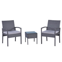 Meadows Arm Balcony Set With Cushion 3Pcs (Delivered In 7 Business Days)