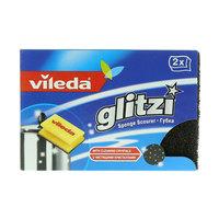 Vileda Glitzi Sponge Scourer Dish Washing High Foam 2 Pieces