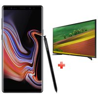 "Samsung Galaxy Note 9 (SM-N960FZ) Dual Sim 4G 128GB Black + Samsung 32"" LED TV"