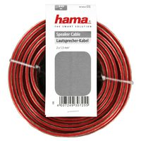 Hama Loudspeaker Cable 2 X 1.5 MM², 10 M, Transparent