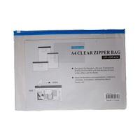 Binder Max Document Zipper Clear Bag A4 355X245Mm T57 Clear
