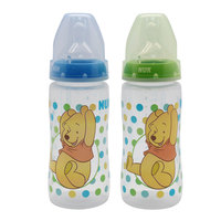 Nuk First Choice+ Winne The Pooh Bottle 300ml Silicone Teat Size 1( 0-6 months ) Medium Hole