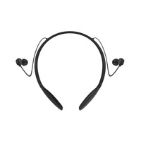 Motorola Verve Rider Collar-Wear Stereo Bluetooth Earbuds Black