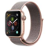 Apple Watch Series-4 GPS 44mm Gold Aluminium Case with Pink Sand Sport Loop (MU6G2AE/A)