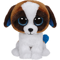 Ty Beanie Boos Dog Duke  Brown White 6""