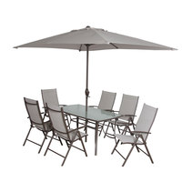 Patio Set Textline 8Pcs Without Umbrella Base