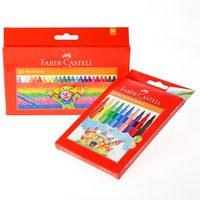 Faber-Castell Wax Crayon 24+ Fib Tip Color Pen 12
