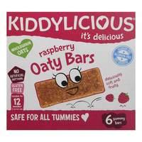 Kiddylicious Raspberry Oaty Bars 20gx6