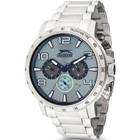 Slazenger Men's Chronograph Display Blue Dial Silver Stainless Steel Bracelet - SL.9.6027.2.01