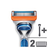 Gillette Fusion men's razor handle and 2 Razor Blade Refills, 2 count