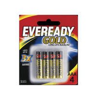 Eveready Battery Gold AAA 4 Pieces