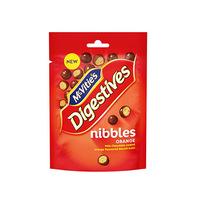 McVitie's Digestive Nibbles Milk Choc & Orange 120GR