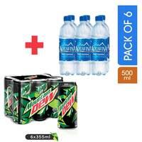 Mountain Dew 355mlx6 + Aquafina Drinking Water 500mlx6
