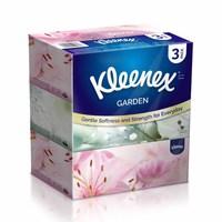 kleenex Facial Tissues Garden 200 Sheets X3 Boxes
