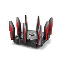 تي بي- لينك راوتر ألعاب لاسلكي AC5400 ثلاثي النطاق بسرعة 5534 ميجا بايت بالثانية 1.8 جيجا هرتز لون أسود