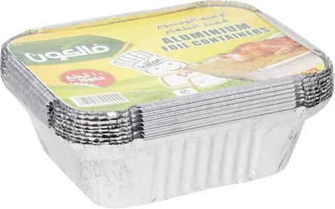 Falcon-Aluminium-Container-With-Lid-10-Pieces-No.1