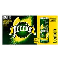Perrier Carbonated Natural Spring Water Lemon 250mlx10
