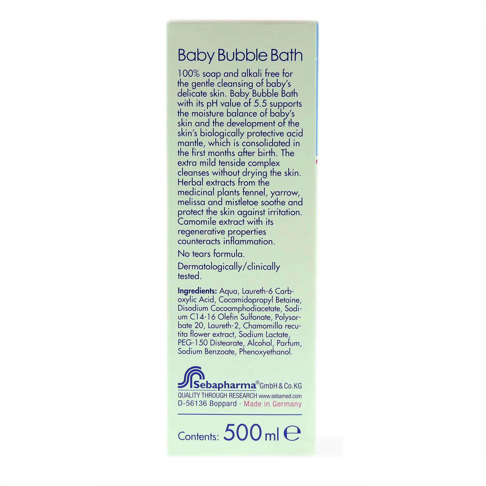 SEBAMED BUBBLE BATH BABY 500ML