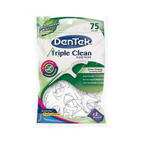 DenTek Triple Clean Fresh Mint Floss Picks 75CM