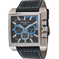 Mount Royale Men's Watch Black Dial Leather Band Sport-11081