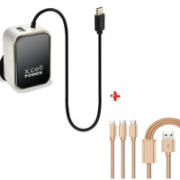 Xcell Home Charger HC225 + Cable 3 in 1
