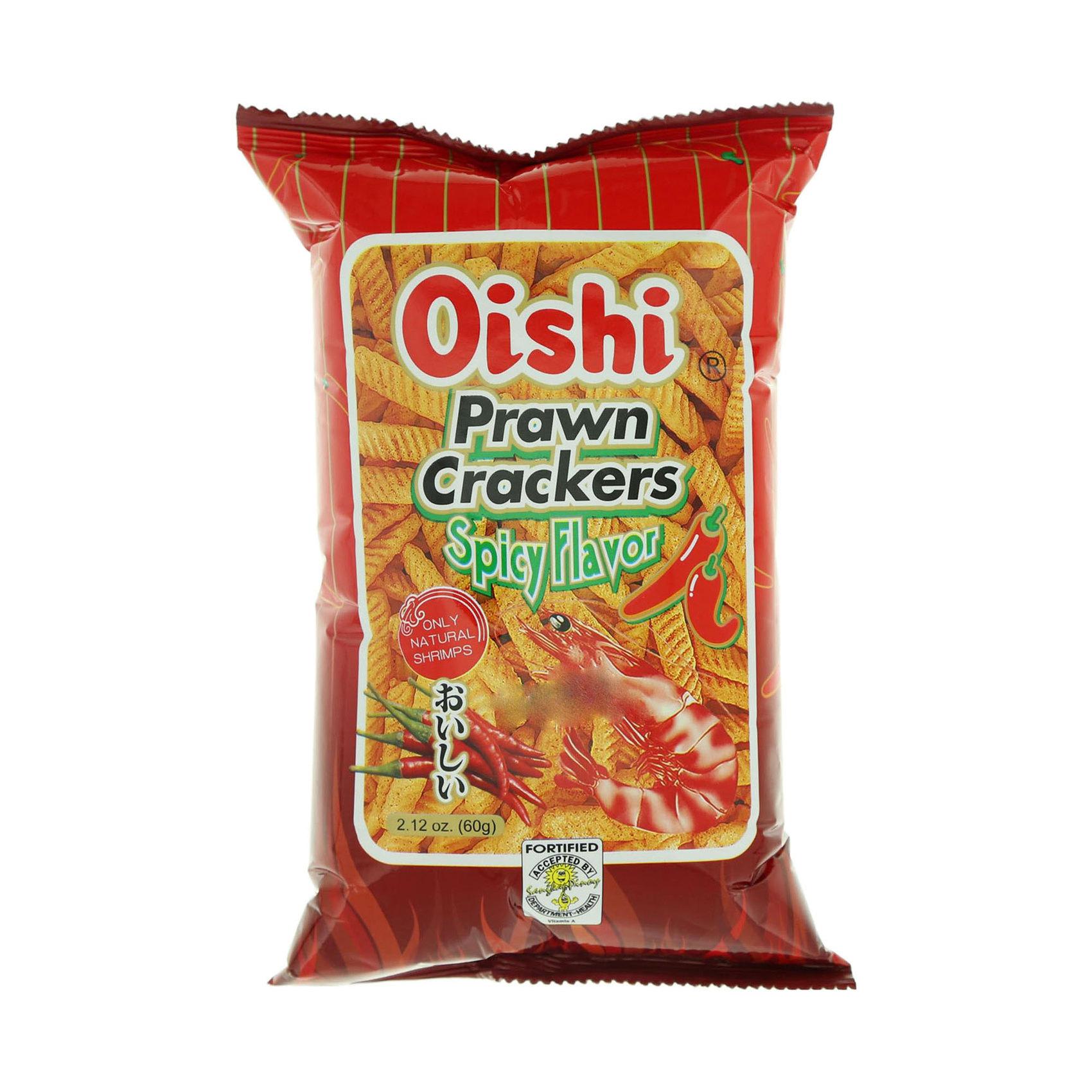 OISHI PRAWN CRACKERS SPICY 60G