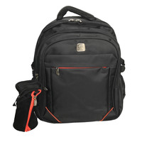 "Wires With Frnt Zip Backpack 19""+Pc"