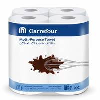 Carrefour Multi Purpose Towel 90 Sheet 2 Ply 4 Rolls