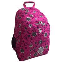 """Janboots Pink Floral Backpack 18"""""""