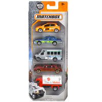 Hotwheels Matchbox-5 Car Pack Box Assorted