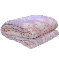 3D Super Soft Flannel Blanket Single Honey Comb Peach