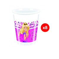 Mattel Cup Barbie Magic 200ML 8 Pieces
