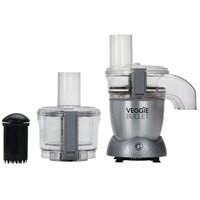 Veggie Bullet Electric Spiralizer & Food Processor 12pc Set with Blender Kit 6pc Set, 500W, Silver, VB-102