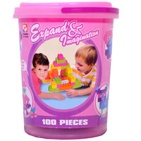 Goldkids Block Bucket 100Pcs