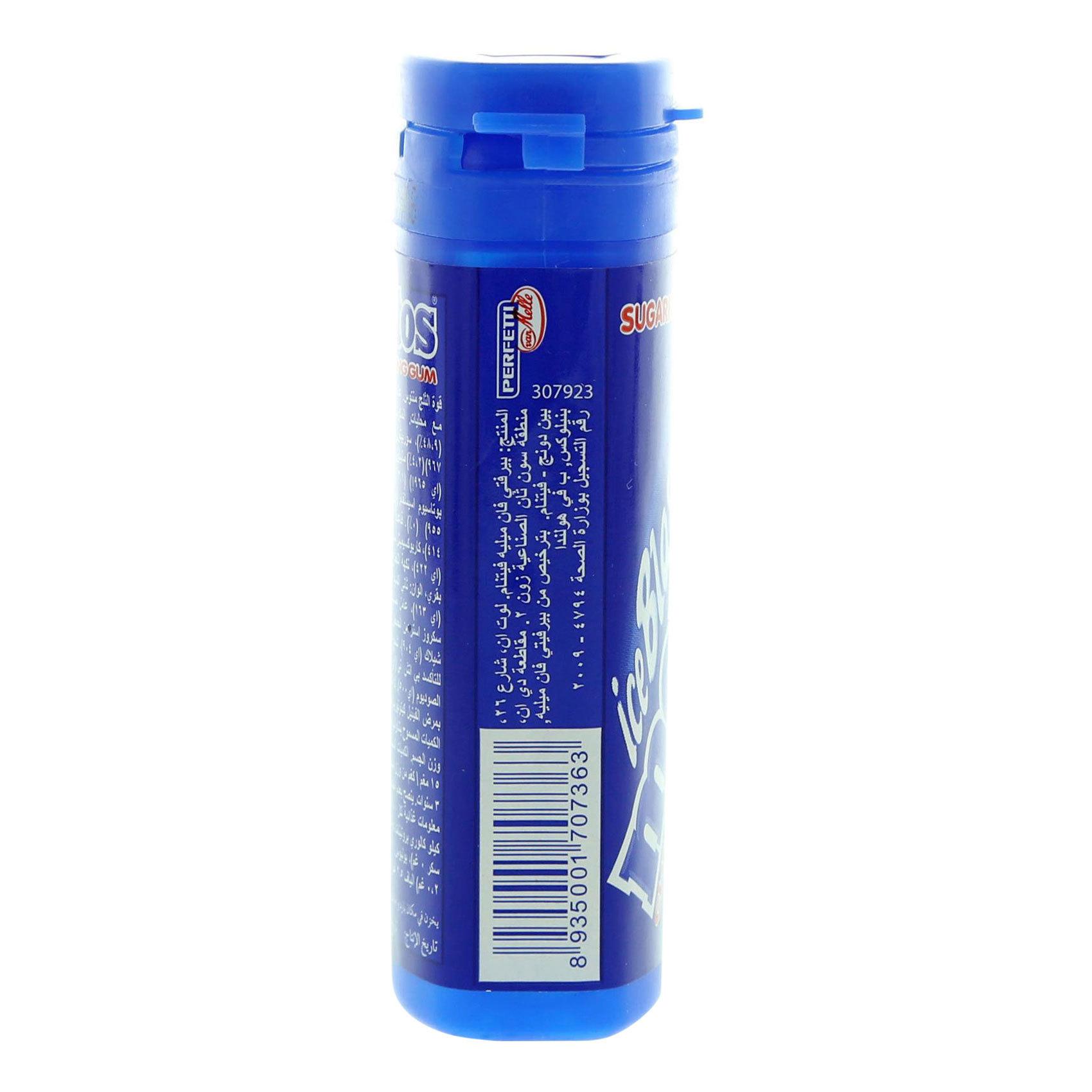 MENTOS ICE BLAST GUM MINT BTL 26G
