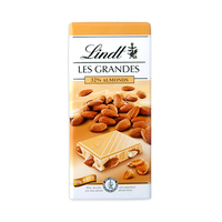Lindt Les Grandes 32% Almonds White Chocolate 150GR