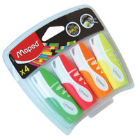 Maped Pocket High Lighter 4Pcs Assorted