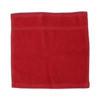 كنزي منشفة للوجه قياس 30x30 سم لون أحمر