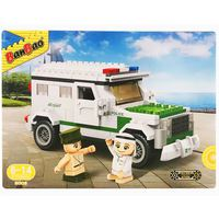 BanBao 230 Pieces Arabic Police Car Block Toy