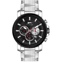 Slazenger Men's Multifunction Display Black Dial Silver Stainless Steel Bracelet - SL.9.6034.2.03