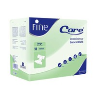Fine Incontinence Adult Brief Derma Large 18 Sheets