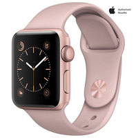 Apple watch Series-1 38mm Rose Gold Aluminium Case With Pink Sport Band