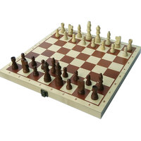 Wooden Chess Set with 15""