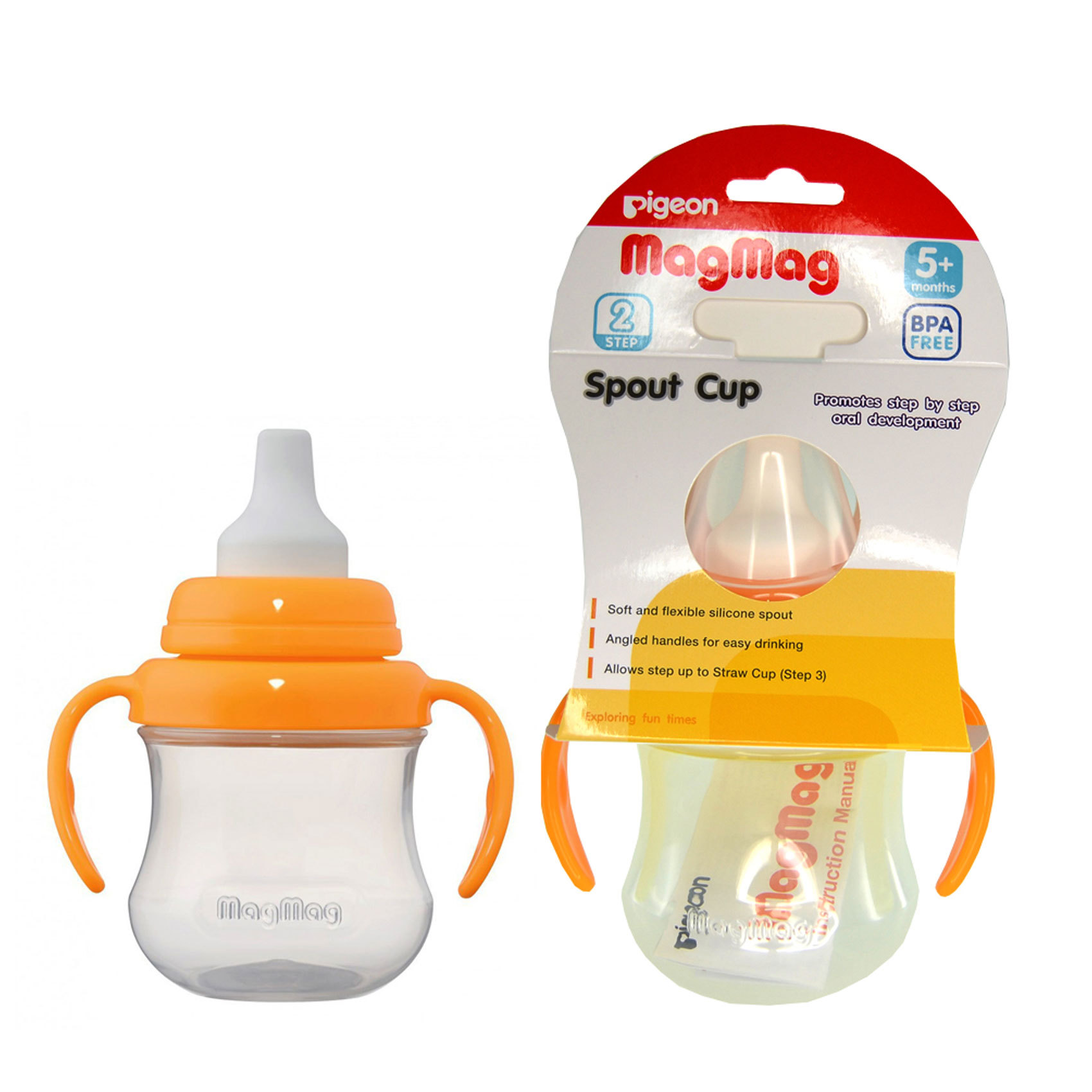 Buy Pigeon Mag Spout Cup Online In Uae Carrefour Baby Pacifier Step 3 Org 15732