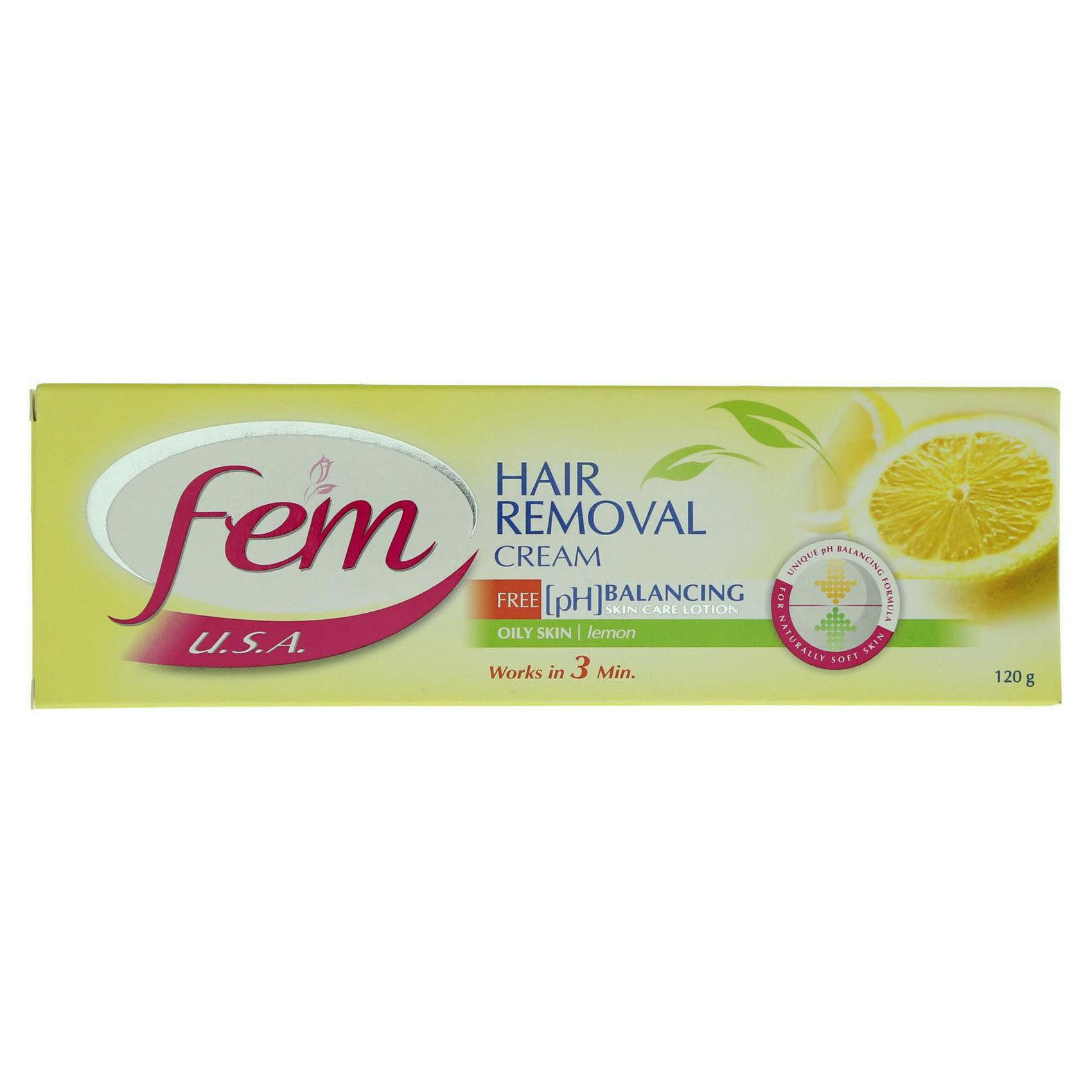 FEM HAIR REMOVING CREAM TUBE LEMON