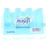 Masafi Bottled Drinking Water 330mlx12