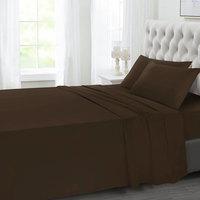 Tendance's Flat Sheet Double Dark Brown 205X240
