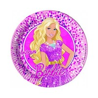 Mattel Plate Barbie Magic 23CM 8 Pieces