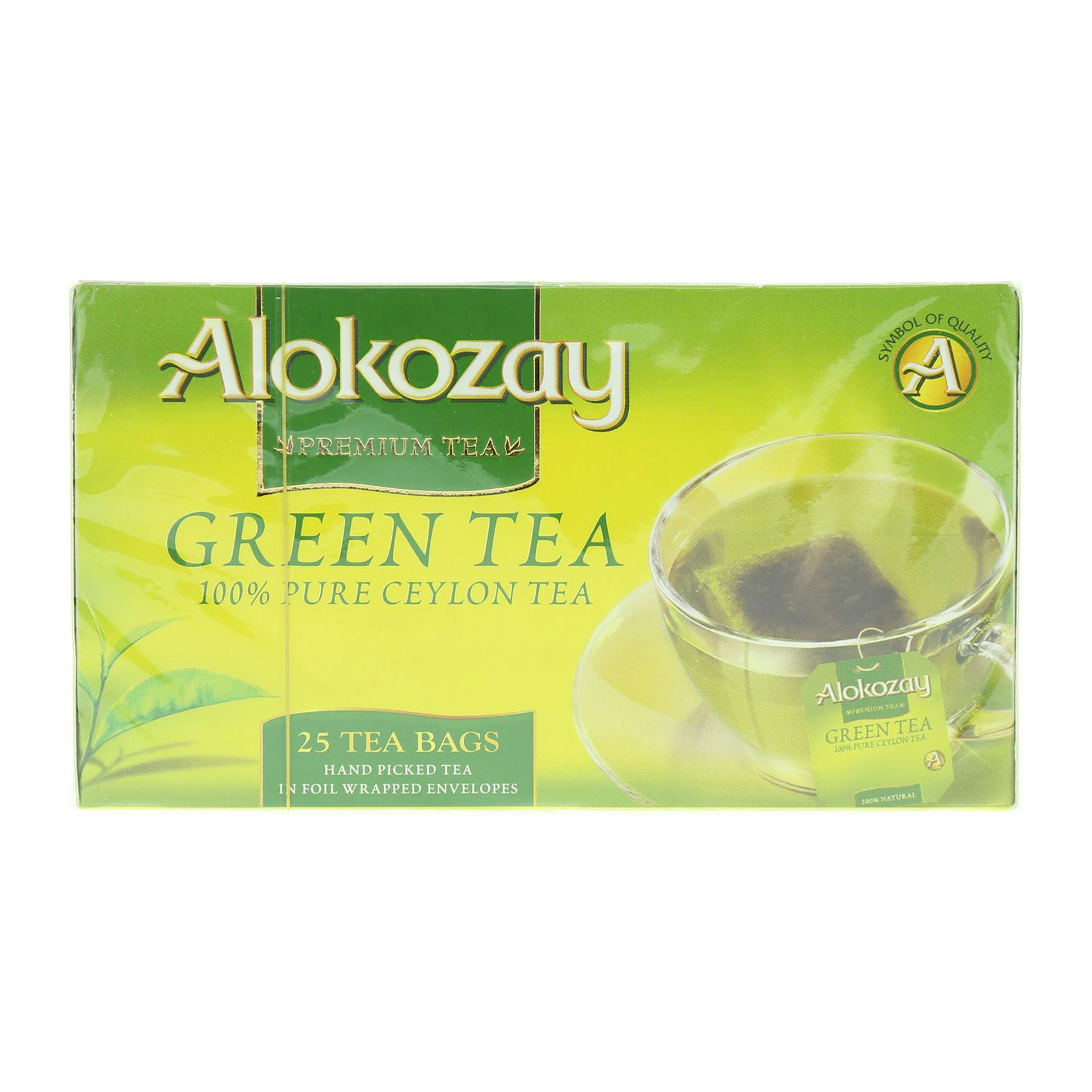 ALOKOZAY GREEN TEA BAGS 25'S 50G